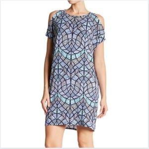 Tart   Caia Cold Shoulder Mosaic Print Dress